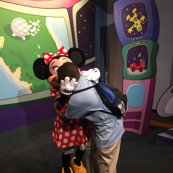 Minnie hugging me (May 28 2015)