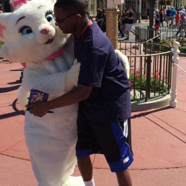 Marie hugging me (May 1 2015)