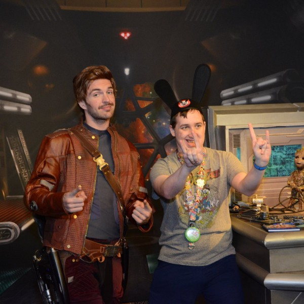 Posing with Star Lord
