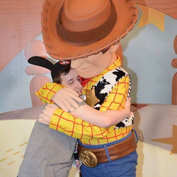 Hugging Woody