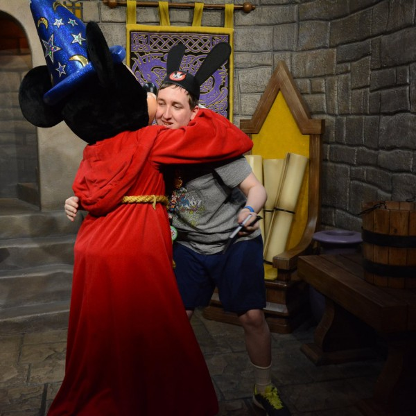 Hugging Sorcerer Mickey Mouse