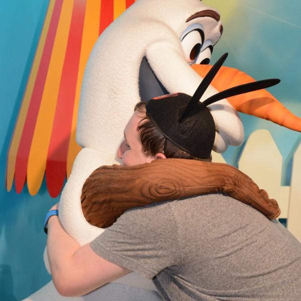 First Warm Hug to Olaf