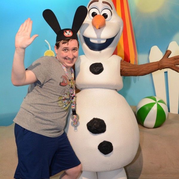 Posing with Olaf
