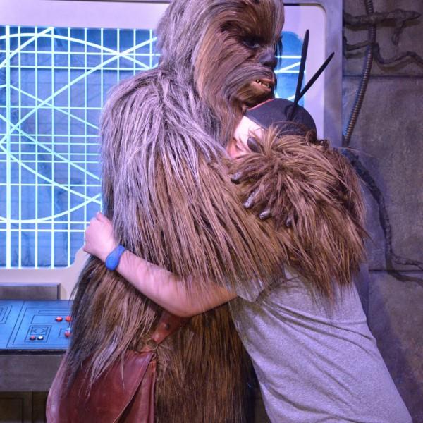 Hugging Chewie