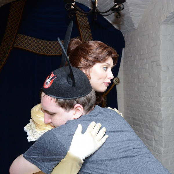 Hugging Belle at Akershus