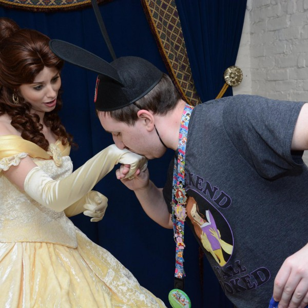 Kissing Belle's hand