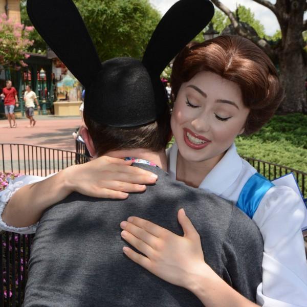 Hugging Villager Belle