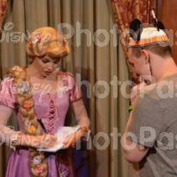 Rapunzel's signing my book