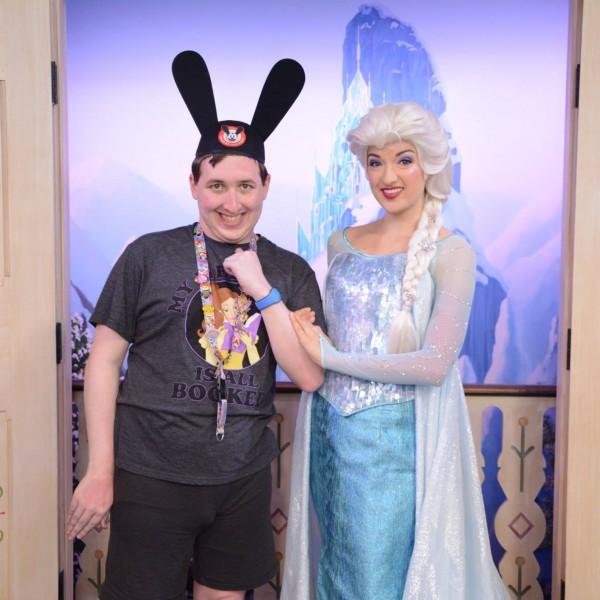 Elsa is Holding my Arm