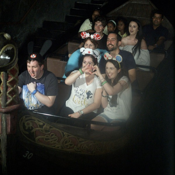 Me and other guests on Frozen Ever After