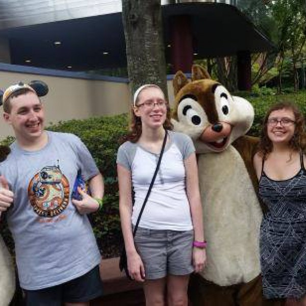 Me and Sisters with Chip and Dale