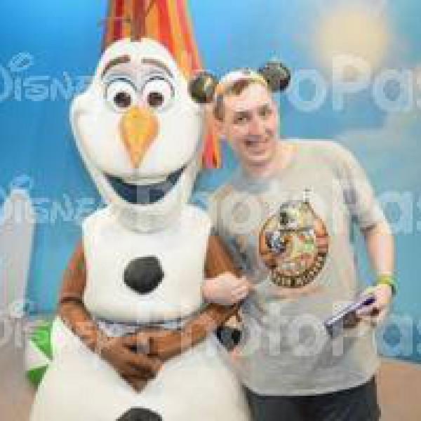 Holding Olaf's arm