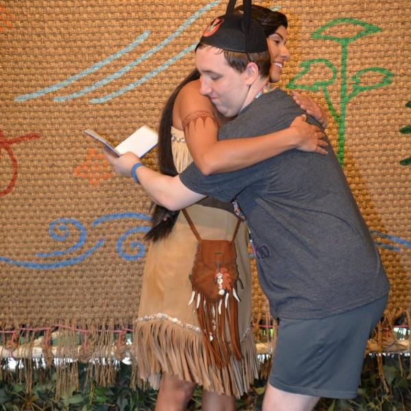 Hugging Pocahontas