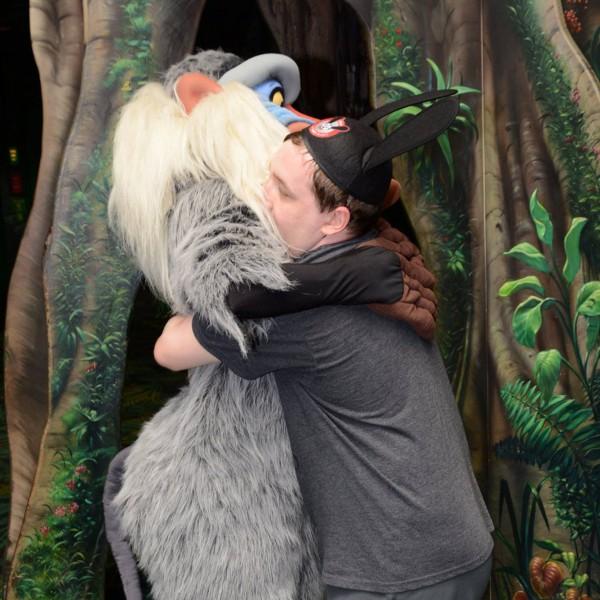 Hugging Rafiki