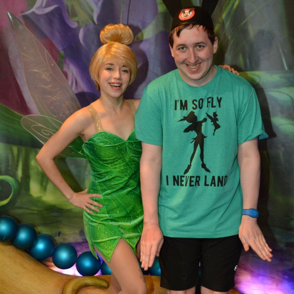 Posing with Tinker Bell