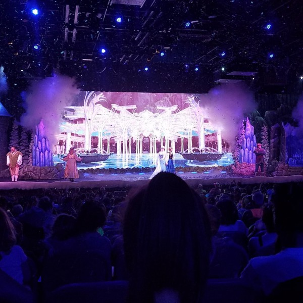 Anna, Elsa, and Kristoff in For the First Time in Forever A Frozen Sing Along Celebration