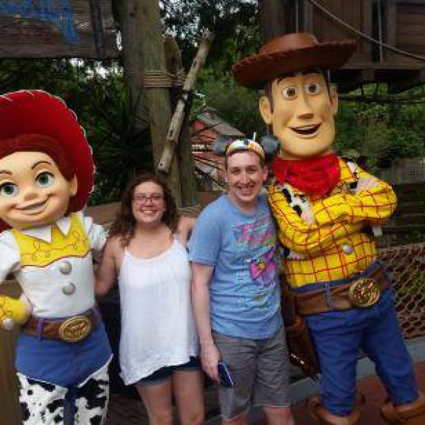Meeting Woody and Jessie