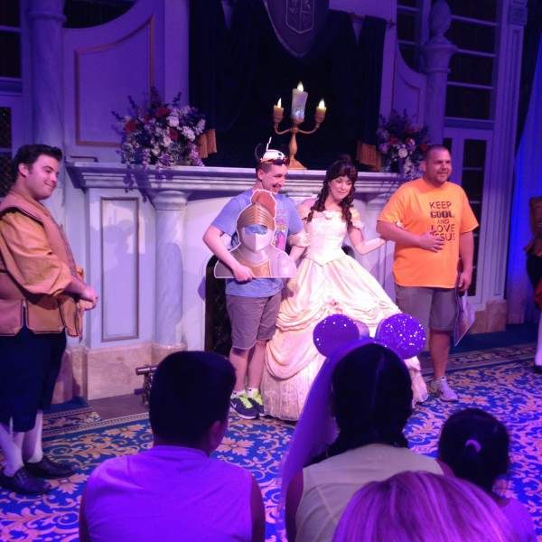 Me and some random guy with Belle