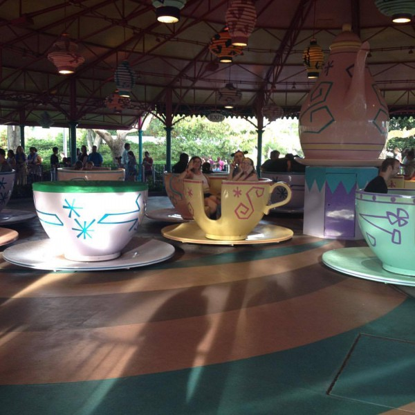 Me and Sisters on the Mad Tea Party