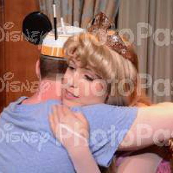 Hugging Princess Aurora