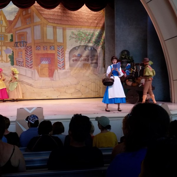 Belle in Beauty and the Beast Live on Stage