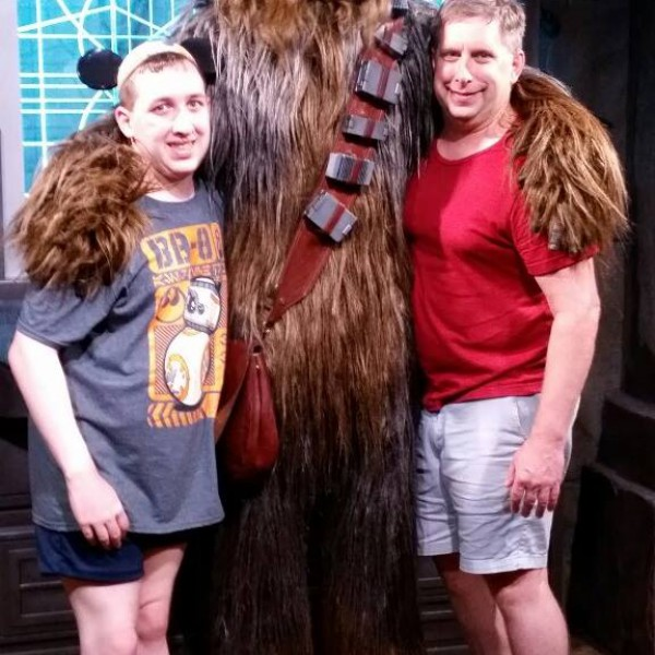Me and Dad with Chewbacca