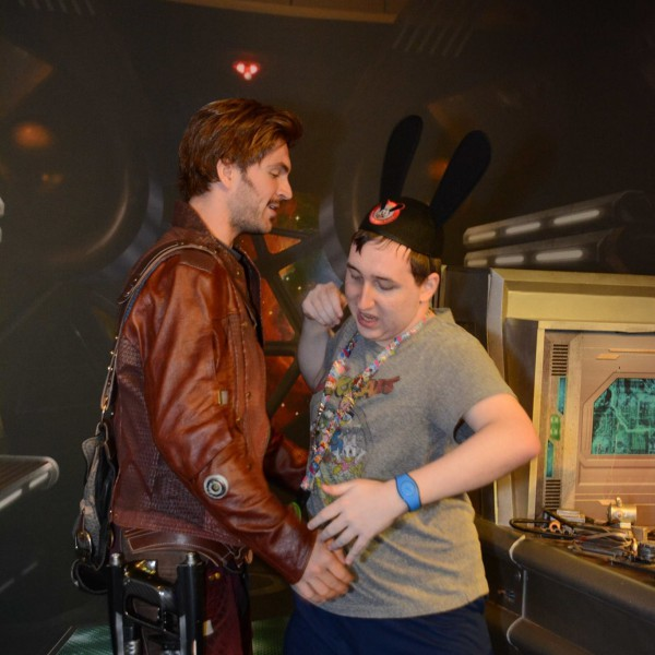 Giving Star Lord Hugs