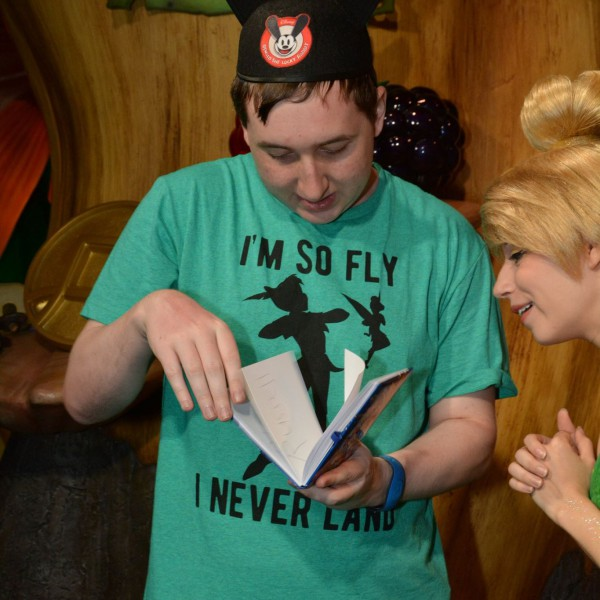 Getting my Autograph Page Ready for Tink