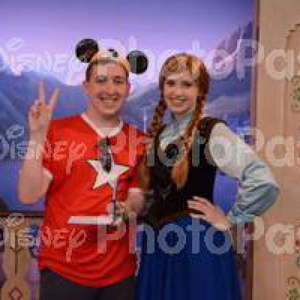 Doing the Most Awkward Pose in Front of Anna