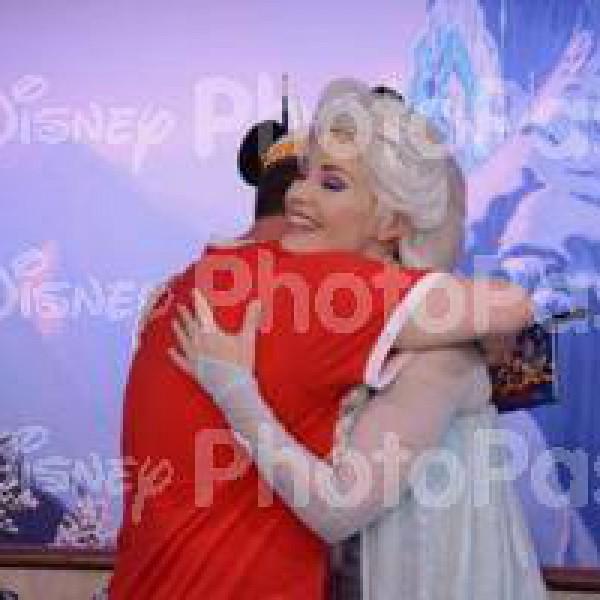 Queen Elsa's Happy to Be Hugged