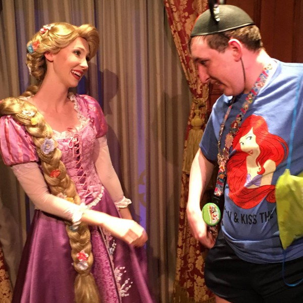 Me and Rapunzel After My Kiss on Her Hand