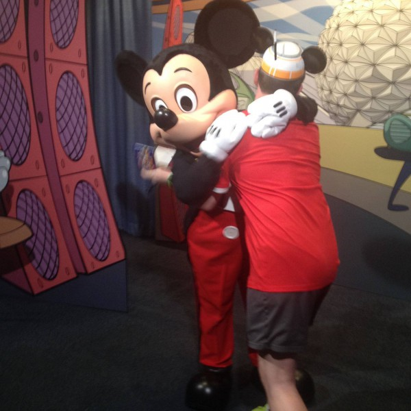 Hugging the Big Cheese himself