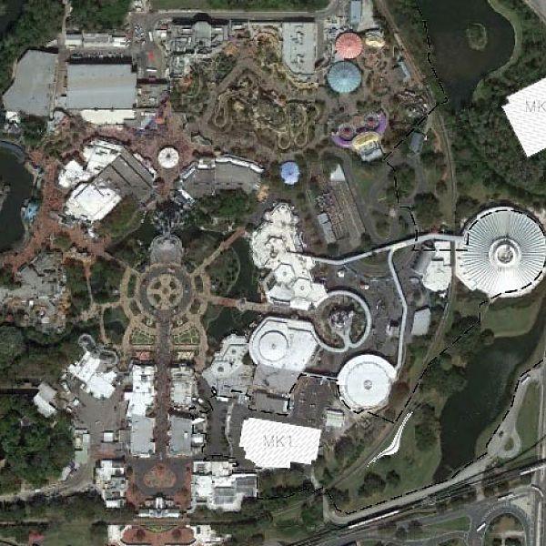 Magic Kingdom Theater and Tron Location